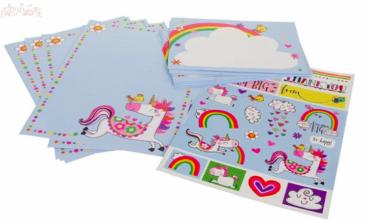 Set écriture 30 feuilles + 20 enveloppes + stickers WS022